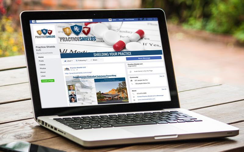 Facebook social media screen design